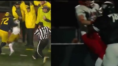 """Photo of Must Watch: Michigan Wolverines Offensive Lineman Stephen Spanellis Nearly Pulled Off The """"Time For Him To Go Home, Coach"""" Moment By Michael Oher In The Movie The Blindside 