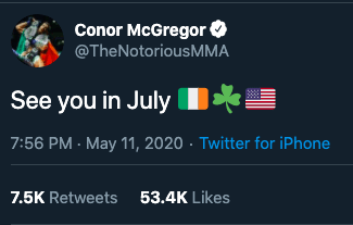 Photo of Connor McGregor vs. Who? in July?