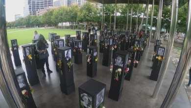 "Photo of ""Say Their Names"" Memorial At Klyde Warren Park"