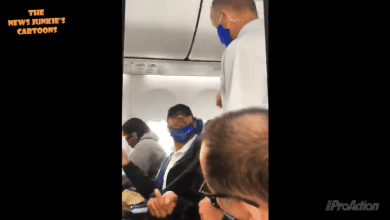 Photo of Guy With Trump Hat/Mask on Gets Kicked off Southwest Airlines Flight for Lowering His Mask Just to Eat Food (Video)