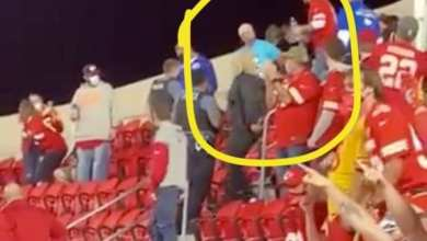 Photo of Guy with Roger Goodell Clown Shirt Kicked Out of Chiefs Game (Video) – @barstoolsports