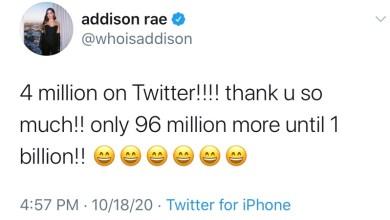Photo of Tik-Tok Mega Star Addison Rae Can't Do Basic Math? @whoisaddison