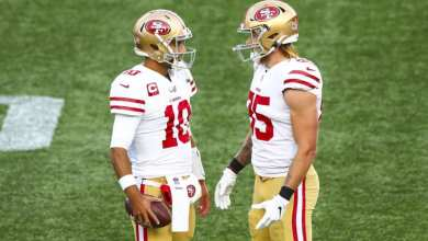 Photo of 49ers Injuries Keep Coming: George Kittle Out Eight Weeks With Broken Foot, Jimmy Garoppolo Sidelined