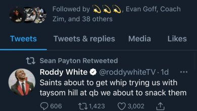 Photo of Sean Payton Just Outright Trolled Roddy White on Twitter