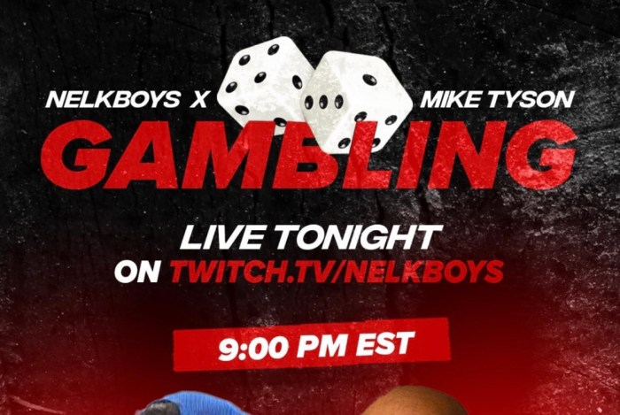 Nelk Boys And Mike Tyson To Stream Live Tonight On Twitch Gambling Nelkboys Pro Sports Extra We do this with marketing and advertising partners (who may have their own information they've collected). nelk boys and mike tyson to stream live