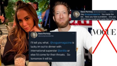Photo of Dave Portnoy vs. Vogue | Flexes With Pic Of Him At Dinner With Dime SUPERSTAR @anitta @stoolpresidente
