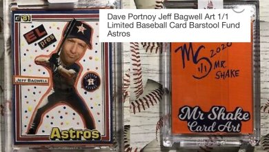 Photo of 1/1 Jeff Bagwell / Dave Portnoy Card For Sale – Profits To The Barstool Fund