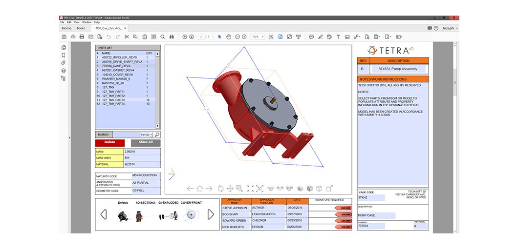 PROSTEP Technical Data Package