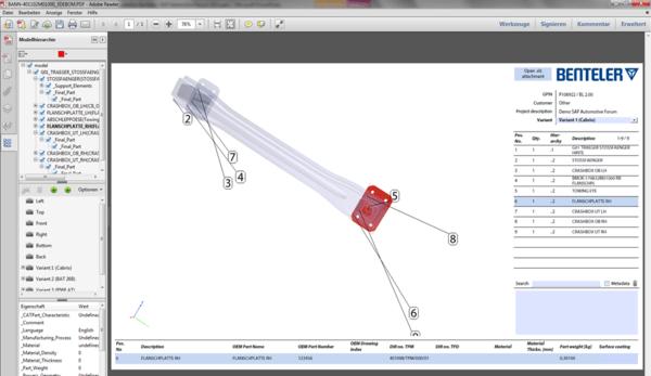 3D PDF BOM - PROSTEP