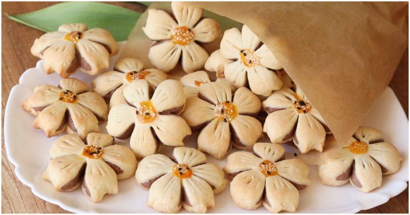 Печиво у вигляді квітів