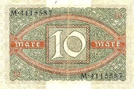 Немецкая марка 1919 года