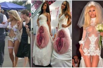 Фото Самых Идиотских Свадебных Платьев: Лучше Присядьте!