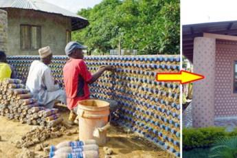Жители Нигерии строят огнеупорные, пуленепробиваемые эко-дома из пластиковых бутылок! Взгляните на это!