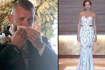 Глухой жених не понимает, почему его невеста не подходит к нему – затем она поднимает руки, а он начинает плакать
