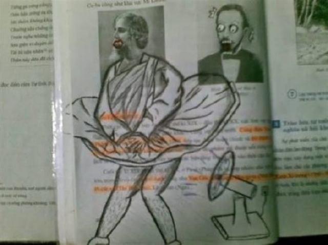 13 шедеврально разрисованных учебников талантливых школьников