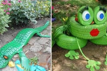 Примеры применения шин в декоративных целях. Просто невероятные украшения!