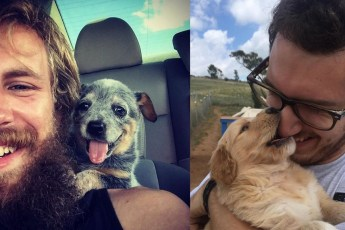 Прекрасные фотографии людей, впервые встретившихся со своей новой собакой