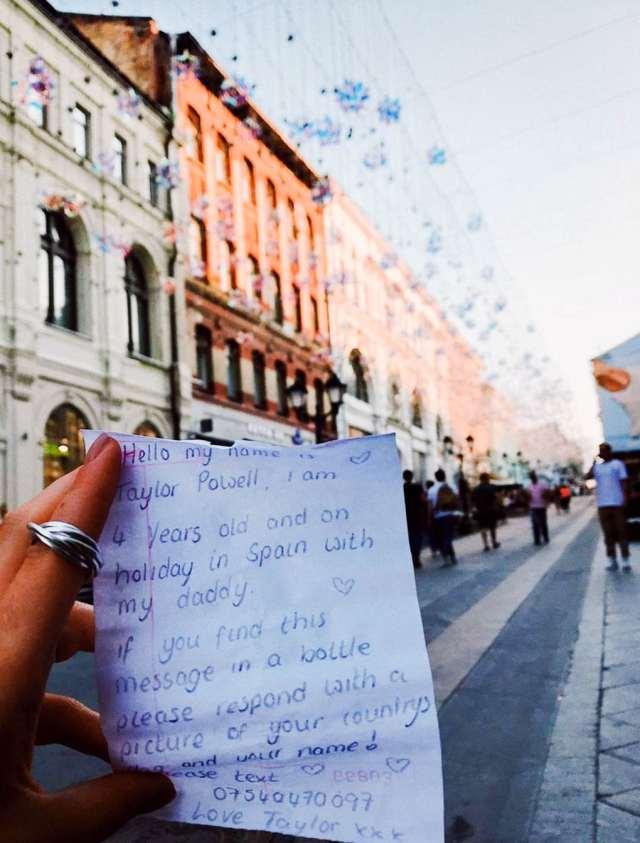 Девочка в Испании бросила в море бутылку с письмом, и не ожидала, что ей ответят из Москвы