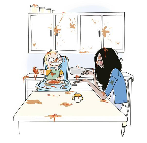 Смешные и теплые иллюстрации из жизни молодой мамочки