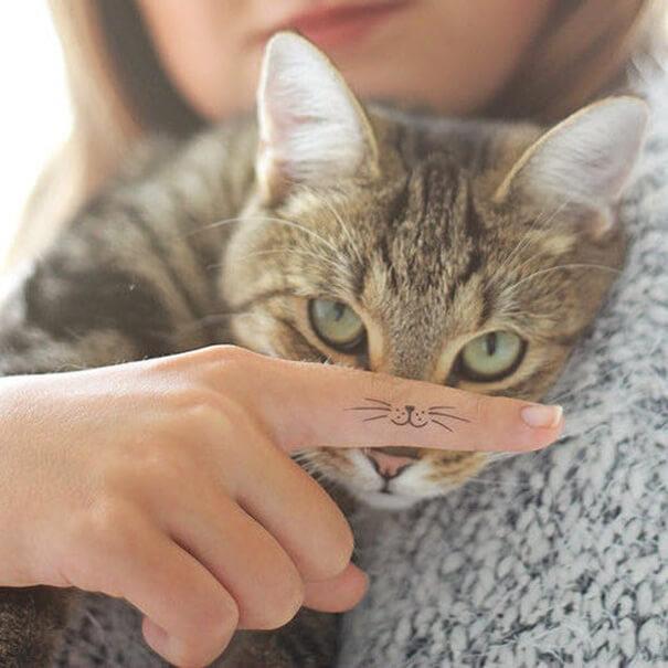 Прекрасные татуировки с котиками, доставляющие визуальное удовольствие