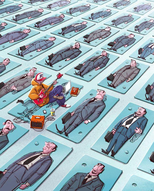 Иллюстрации о том, что волнует мир больше всего
