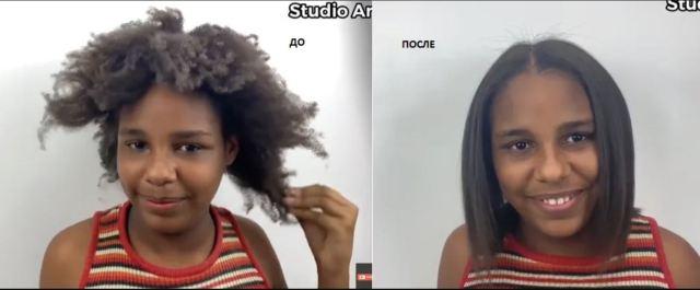 Из-за неухоженных волос над девочкой смеялись в школе. Стилист сделал ей новую причёску