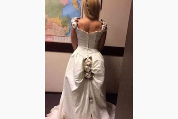 Свадебное платье невесты высмеяли из-занелепой детали наюбке