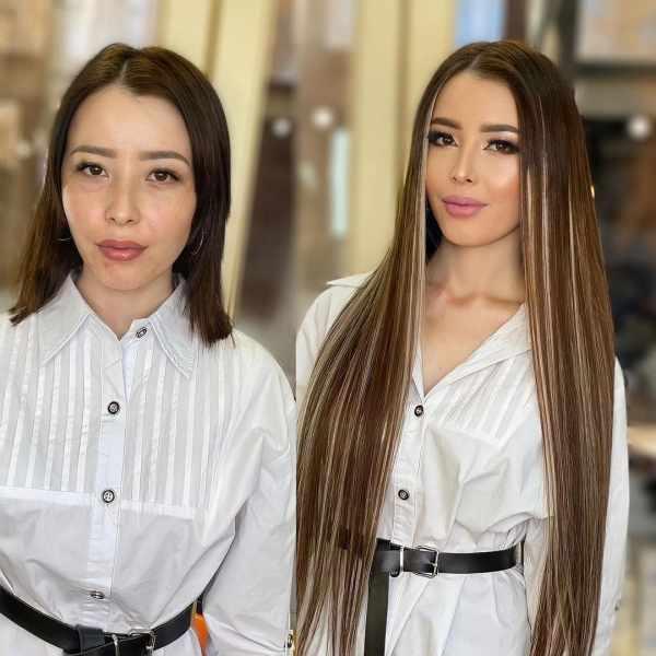 Женщины решились сделать наращивание волос и помолодели лет на 20