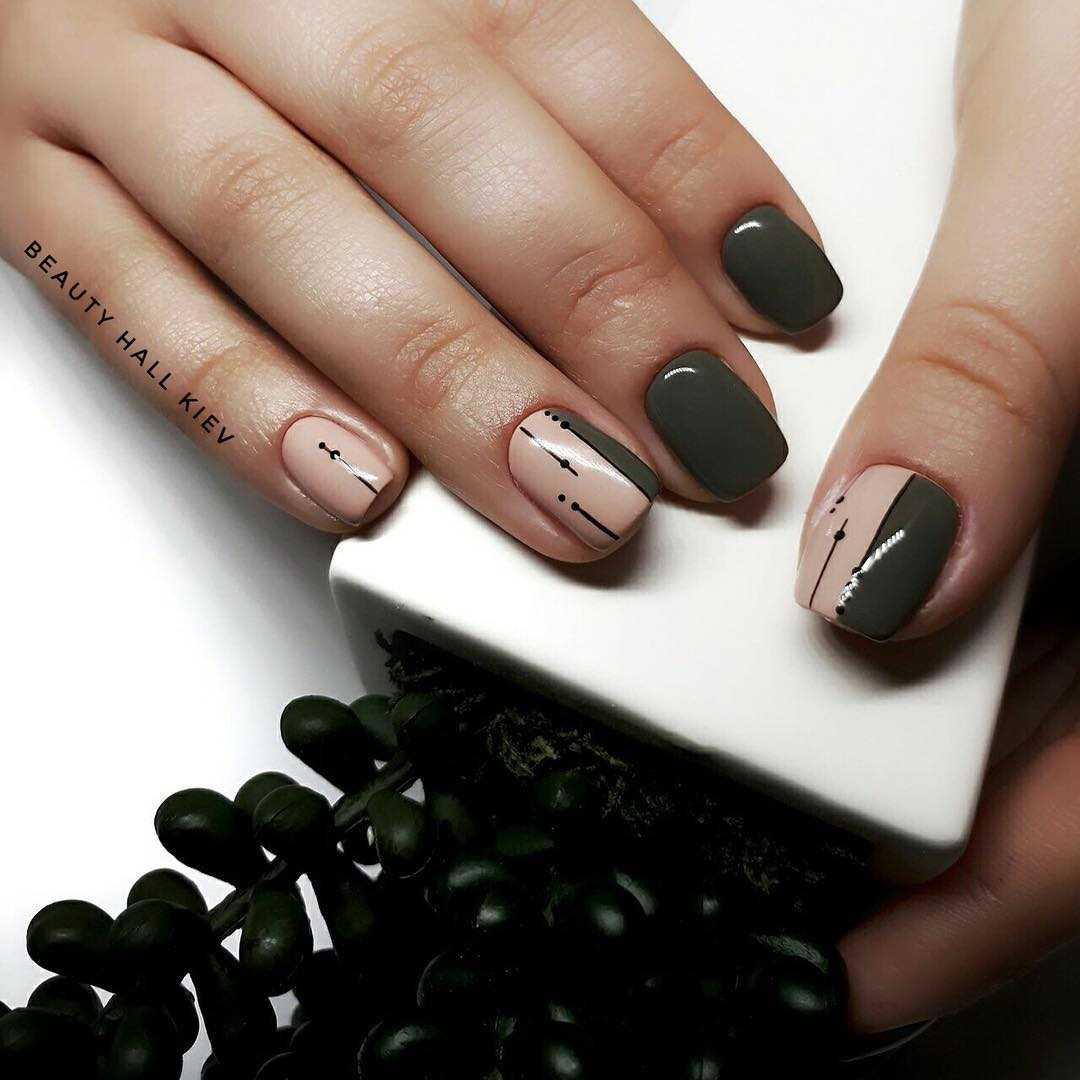 дизайн ногтей геометрия лиса 7