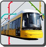 Berliner Straßenbahn vor Liniennetz
