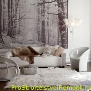 Фотообои в гостиной фото. Фото обои | Про строительство и ...