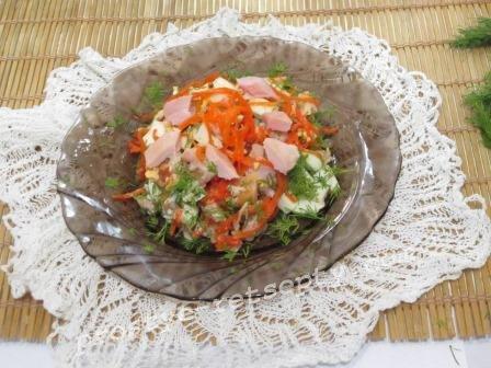 Салат с курицей и корейской морковью: рецепт с фото