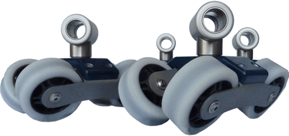 Camera Dolly Rail Wheels - 4 wheels
