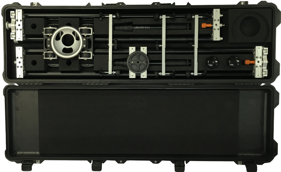 Camera Slider - Camera Track Package: Prosup Tango Roller Pelicase Set
