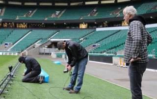 Camera Slider - Camera Track Prosup in action Twickenham Stadion