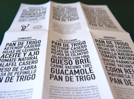La carta de las hamburguesas, pan-hamburguesa-mucho más-pan