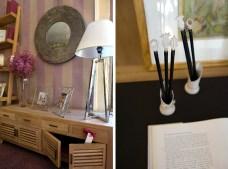 Muebles de olmo blanco y detalles de decoración preciosos