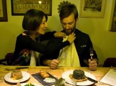 Angels y Adrien antes de atacar la comida