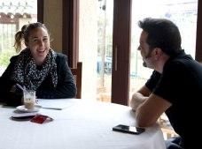 Durante la entrevista con Ana de Ocio Magazine