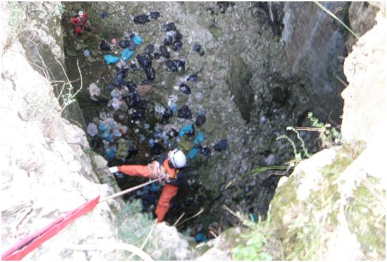 Εικόνα απο την είσοδο του σπηλαίου, Κορύλοβος 2012
