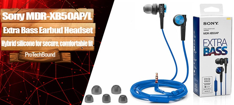 Sony MDRXB50AP - Best Extra Bass Gaming Earbud Headphones
