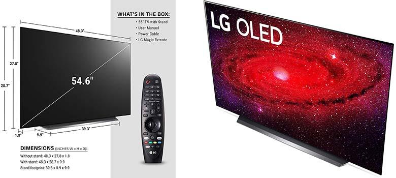LG OLED55CXPUA - Best OLED HDMI 2.1 TV for PS5 & Xbox Series X