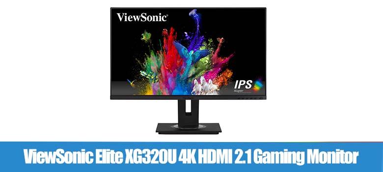 ViewSonic Elite XG320U 4K HDMI 2.1 Gaming Monitor (32 inches)