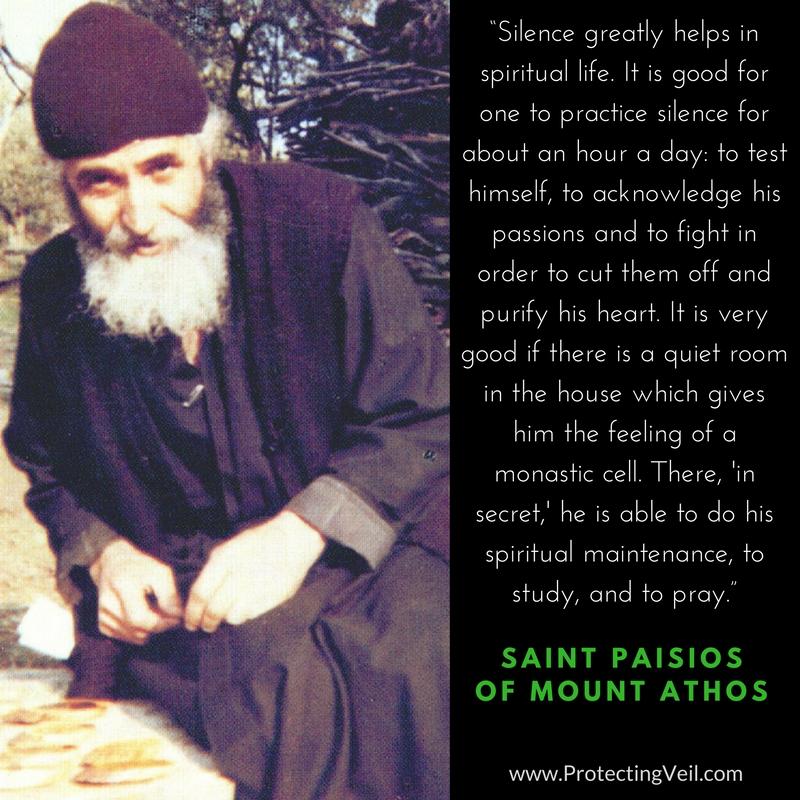 Saint Paisios of Mount Athos, On Silence & The Spiritual Life
