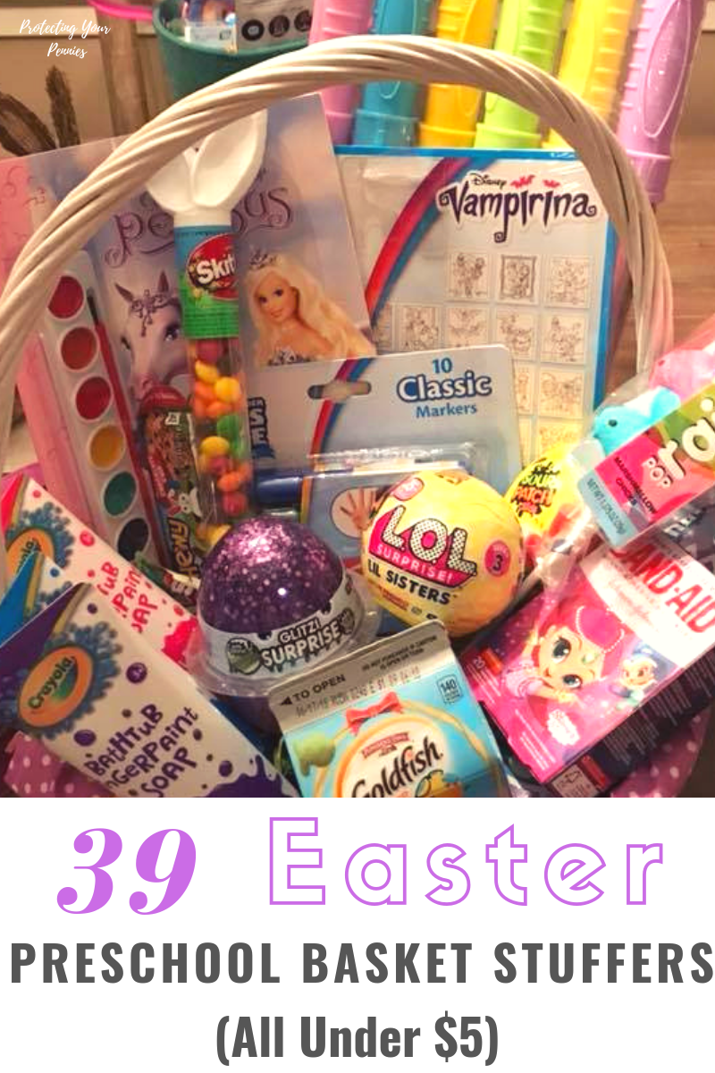 39 Easter Preschool Basket Stuffers for kids Under $5. These Easter basket ideas are easy, cheap and can all be found online for simple shopping! Boys or Girls will be happy to see what the Easter bunny brought them this year!