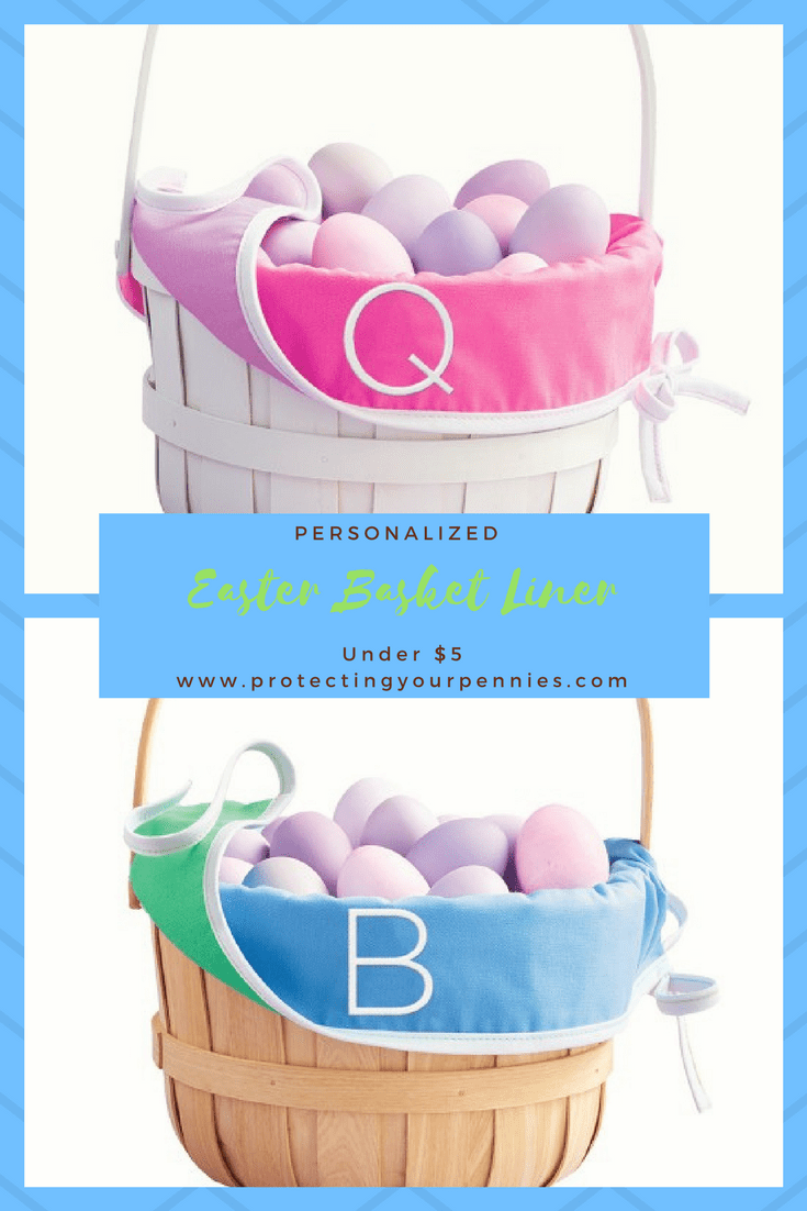 Personalized Easter Basket Liner