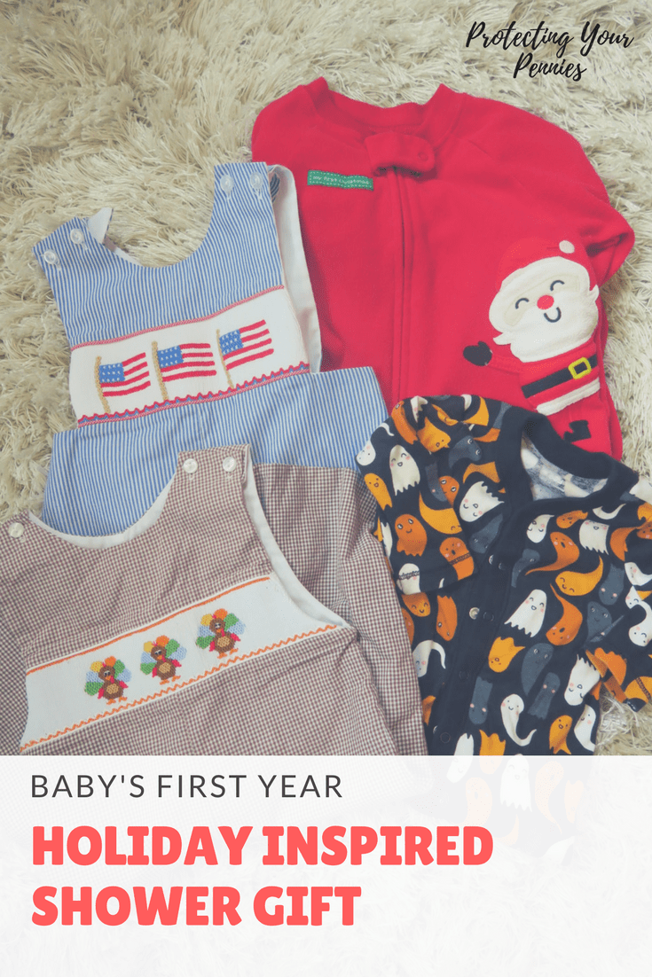 Baby's First Year Holiday Themed Gift