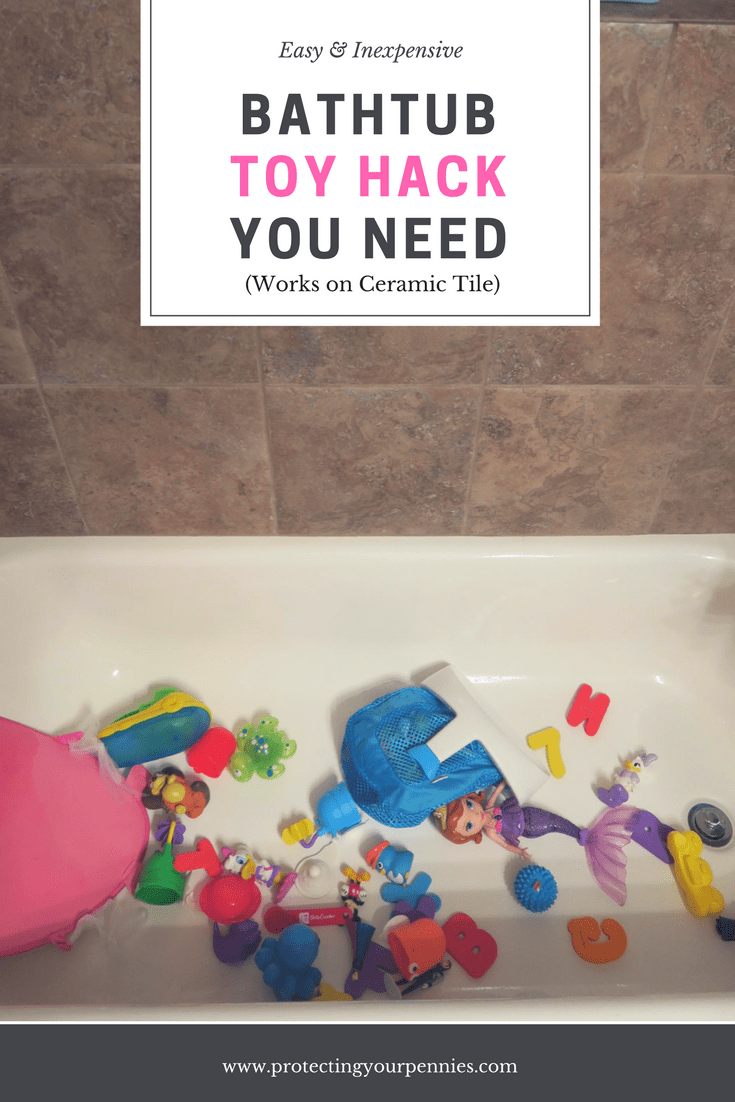 Bathtub Toy Organization Hack