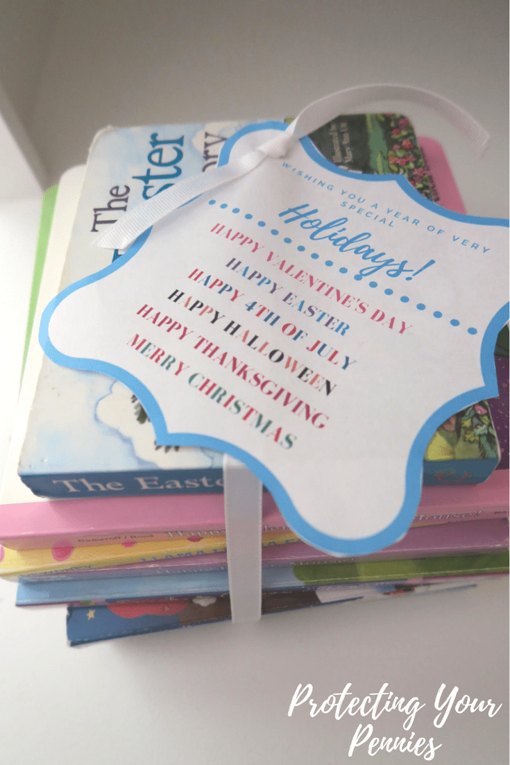 Holiday Gift tag for Gender Neutral Baby Shower Gift