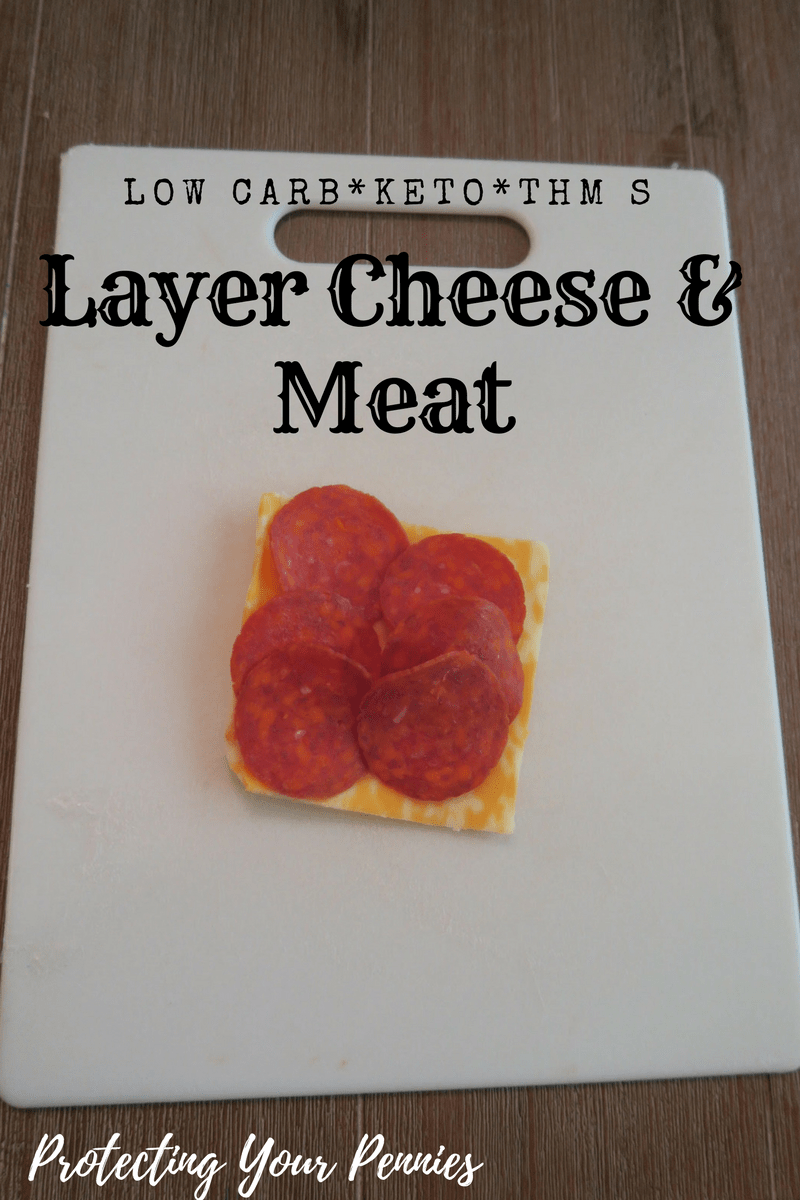 Layered Cheese and meat low carb